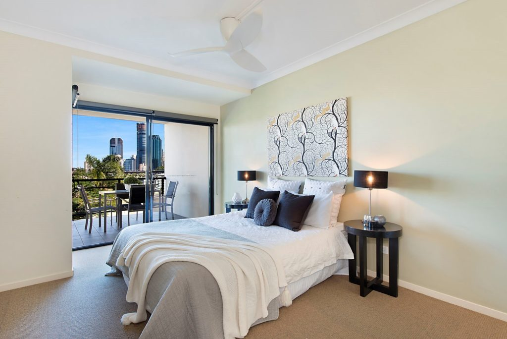 Brisbane Property Styling Moray Street New Farm Unit
